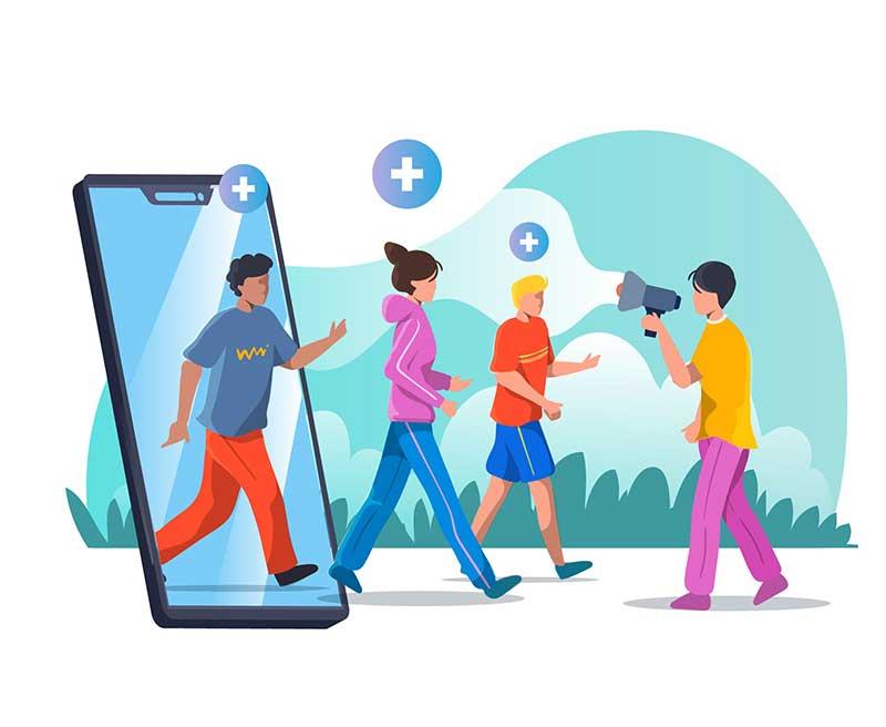 Ragazzi interazioni sociali con aba topics